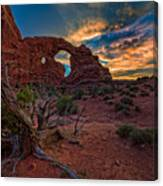 Turret Arch At Sunset Canvas Print