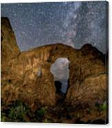 Turret Arch Milkyway, Arches National Park, Utah Canvas Print
