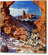 Turret Arch Through North Window Arches National Park Utah Canvas Print