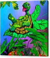 Turtle Trampoline Canvas Print