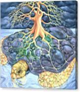 Turtle Tree Mandala Canvas Print
