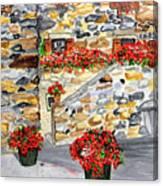 Tuscan Courtyard I Canvas Print