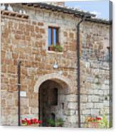 Tuscan Old Stone Building Canvas Print