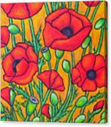 Tuscan Poppies - Crop 2 Canvas Print