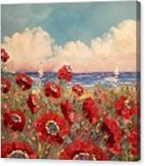 Tuscan Riviera Red Poppies Canvas Print