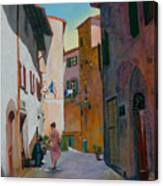 Tuscan Street Canvas Print