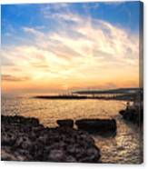 Tuscan Sunset On The Sea In Italy Canvas Print