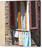Tuscan Window And Laundry Canvas Print