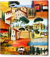 Tuscany Collage Canvas Print