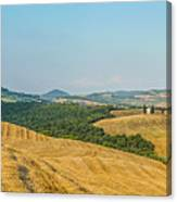 Tuscany Landscape With Rolling Hills At Sunset, Val D'orcia, Ita Canvas Print