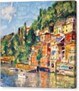 Tuscany On The Lake Canvas Print