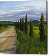 Tuscany Road Canvas Print