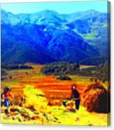 Tusheti Hay Makers IIi Canvas Print