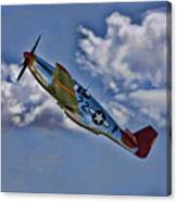 Tuskegee Mustang Red Tail Canvas Print