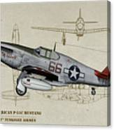 Tuskegee P-51b By Request - Profile Art Canvas Print