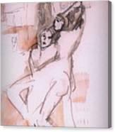 Tussle Canvas Print