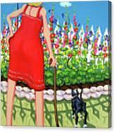 Tuxedo Cat - Edens Garden Canvas Print