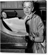 Tv And Big Screen Actress, Betty Furness. 1956 Canvas Print