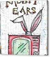 Tv And Rabbit Ears Canvas Print