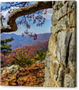 Twenty Minute Cliff Blue Ridge Parkway I Canvas Print