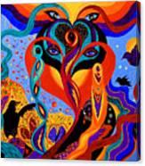 Karmic Lovers Canvas Print
