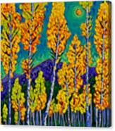 Twilight Aspens Canvas Print