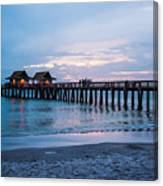 Twilight At The Pier Canvas Print