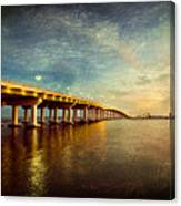 Twilight Biloxi Bridge Canvas Print