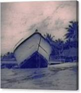 Twilight Boat  Canvas Print