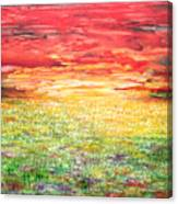 Twilight Bounds Softly Forth On The Wildflowers Canvas Print