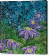 Twilight Clematis Canvas Print