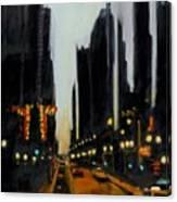 Twilight In Chicago Canvas Print
