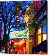 Twilight In Doylestown Borough Canvas Print