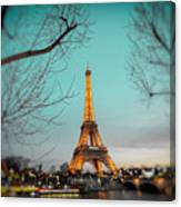 Eiffel Tower At Twilight  Canvas Print