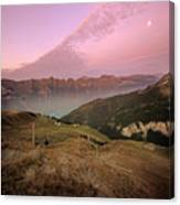 Twilight In The Alps Canvas Print