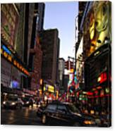 Twilight In The Streets Canvas Print