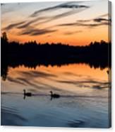 Twilight Lake Swim New Jersey Canvas Print