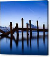 Twilight Piers Canvas Print