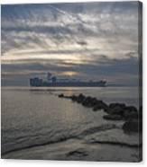 Twilight Steaming Into Charleston Harbor Canvas Print