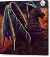 Twilight Storm Dragon Canvas Print