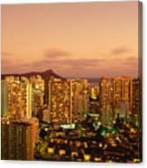 Twilight Waikiki Canvas Print