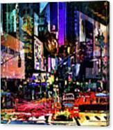 Twilight Zone Hustle Bustle Canvas Print