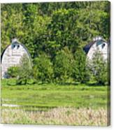 Twin Barns In Spring Canvas Print