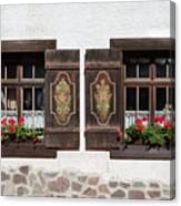 Twin Decorated Windows Canvas Print