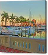 Twin Dolphin Marina Canvas Print