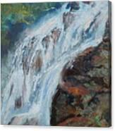Twin Falls Cascade Canvas Print
