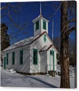 Twin Lakes School District No. 009 Established 1895 Canvas Print