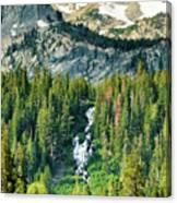 Twin Lakes Waterfall Canvas Print