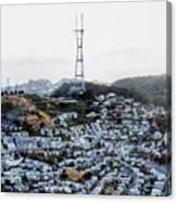 Twin Peaks In San Francisco Aerial Photo Canvas Print