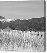Twin Peaks Rustic Fence Canvas Print